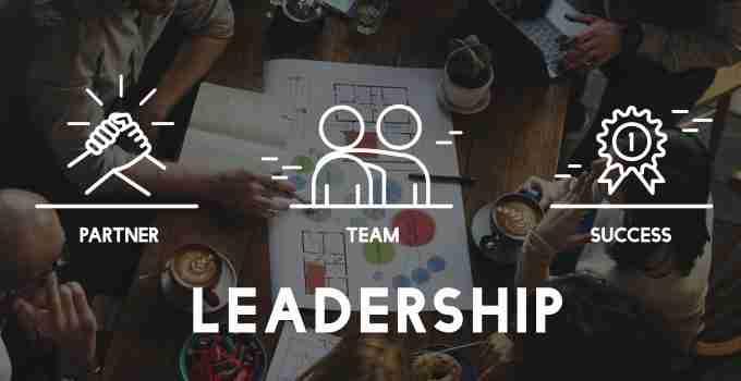 Graphic saying Leadership